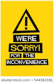 Sorry for Inconvenience Images, Stock Photos & Vectors | Shutterstock